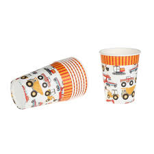 100 Trucks Paper Cups 8pcs Colour My Party