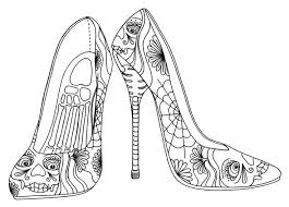 Day Of The Heels Colouring Page Shoes