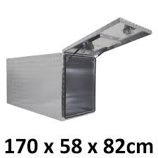 100 Black Truck Box Aluminium Toolbox Full Door Center Ute Trailer Storage