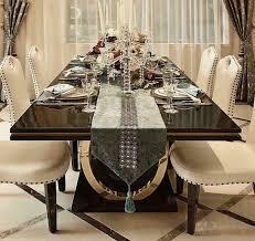 edler luxus design tisch ess zimmer wohn tische holz möbel metall barock modern