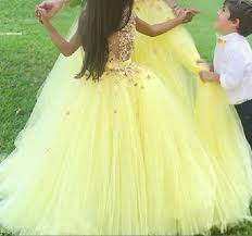 Flower Girl Dresses Yellow First munion Dresses For Girls Puffy