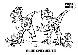 Blue Lego Coloring Pages Jurassic World