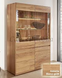 vitrine 120x191x42cm nyon rustikale asteiche bianco geölt vitrine gerundete form casade mobila