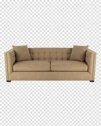 Brown Fabric Padded 2-seat Sofa, Sofa Bed Table Couch Living ...