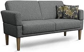 cavadore 3 sitzer sofa femarn mit federkern küchensofa für esszimmer oder küche 190 x 98 x 81 strukturstoff grau