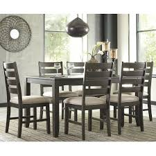 At HOME Rokane 7 Piece Dining Set In Light Brown