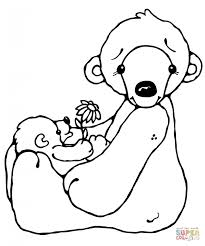 Polar Bears Coloring Pages Bear And Baby Of For Kids Animal