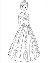 Full Image For Free Frozen Coloring Pages Disney Picture 9 550x727 Anna