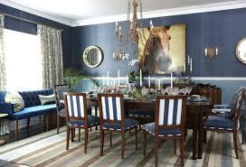 Navy Blue Dining Room Interior Decoration Rooms House Season