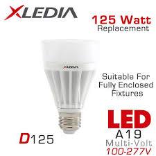 xledia d125n 125 watt equal a19 led for fully enclosed fixtures