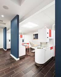 Children s dentist office Mod style bright colors white