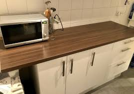 küchenzeile küche ikea dunkelbraune arbeitplatte