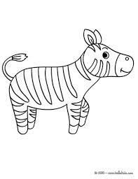 Zebra Kawaii Coloring Page