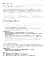 Restaurant Management Resume Objective Examples Unique Manager Template