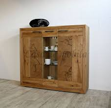 highboard 150x135x40cm rustic wildeiche geölt hirnholz elemente casade mobila
