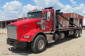 2011 Kenworth T800 Gin Pole Semi Truck | Item DE6341 | SOLD!...