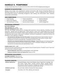 Business Analyst Sample Resume