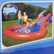 2017 New Arrival 3 8m Giant Surf N PVC Play Center Water Slide Inflatable Pool Children