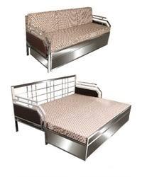 stainless steel sofa bed at rs 23000 piece ss sofa bed