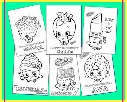 Shopkins Personalized Coloring Book For Party Favors Or