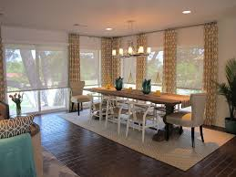 Scalloped Roller Shades Traditional Dining Room Also Brick Floors Geometric Pattern Curtains Sliding Glass Door Solar Transitional