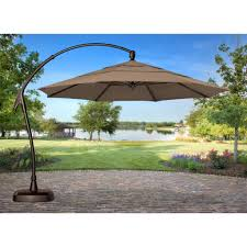 Solar Lighted Offset Patio Umbrella by Southern Patio Umbrella Base Home Outdoor Decoration