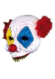 Halloween Half Mask Makeup by Scary Clown Half Mask
