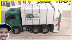 100 Trash Truck Videos For Kids Youtube Picking Up Some And Rocks With Bruder Rear Loader L Garbage