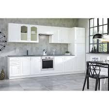 ensemble cuisine pack cuisine complète contemporaine 360 cm coloris blanc achat