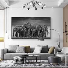 laufschuhe grau elefanten tier leinwand poster drucken bild wand kunst moderne beliebte abstrakte bild wohnzimmer dekoration