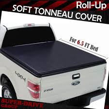 Premium Lock Roll Up Soft Tonneau Cover For 2015-2018 FORD F-150 6.5 ...