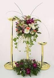 Wedding Floral Stand Pillar Candle Holder Flower Feather Balls