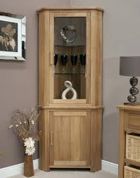 glass corner display cabinet ikea with lights bradley oak