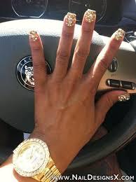 y gold nail design Nail Designs & Nail Art