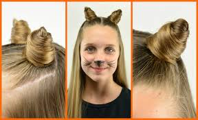 how to make cat ears diy cat ears with your own hair babesinhairland