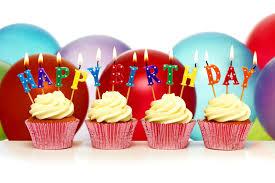 happy birthday cupcake birthday candles balls cupcakes