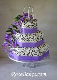 Today I Want To Share A Wisteria Wedding Cake With Purple Ribbon And Black