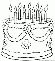 Professional Birthday Cake Coloring Sheet Clipart Page Pencil And In Color