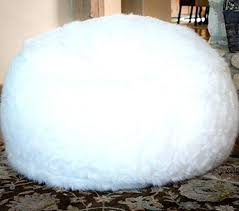 Giant Fluffy Bean Bag Furry Bed Comfy