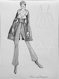 chambre syndicale de la haute couture parisienne fashion drawing done at l ecole de la chambre syndicale de la