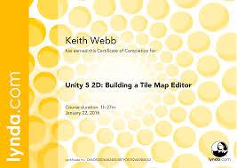 Tiled Map Editor Unity by Lynda Certificates Keith Webb Programmer