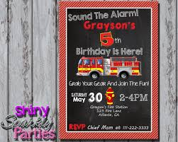 Firetruck Birthday Invitation 2 | Fireman B-Day Ideas | Pinterest ...