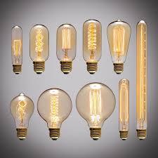 retro edison light bulb e27 220v 40w a19 a60 st64 t10 t45 t185 g80