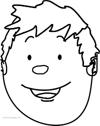Boy Face Coloring Page