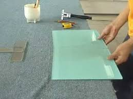 how to cut large format glass tile
