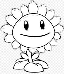 Раскраска Растения против Зомби Подсолнух Раскраски для детей