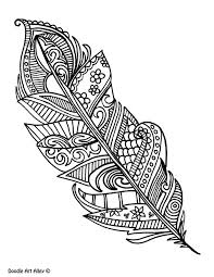 Feather Coloring pages Doodle Art Alley