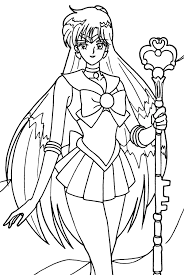 Wonderful Sailor Moon Coloring Book Tsuki Matsuri THE Sailormoon Archive