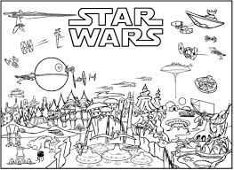Awesome Coloring Printable Star Wars Pages For Free Adults