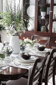 Dining Room Table Decorating Ideas For Spring by Beautiful Natural Table Setting For Spring Setting For Four